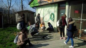 Besuch junger Asylbewerber