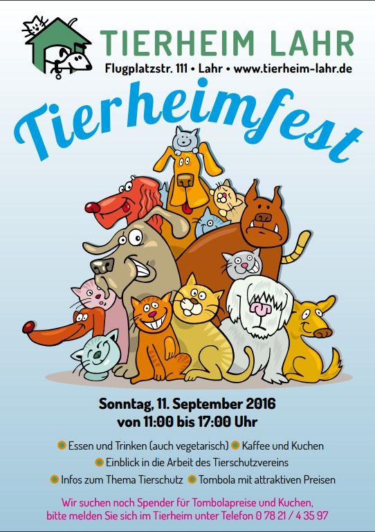 Plakat Tierheimfest 2016