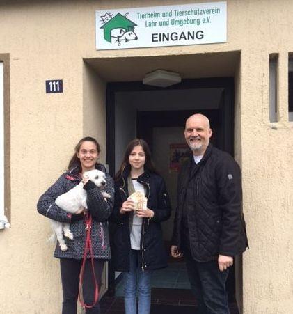 Spendenübergabe im Tierheim Lahr