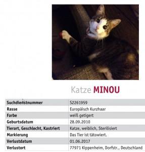Suche Katze Minou