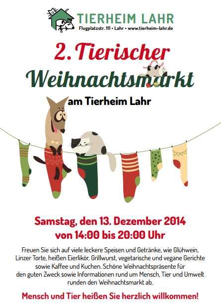 2ter Tierischer Weihnachtsmarkt