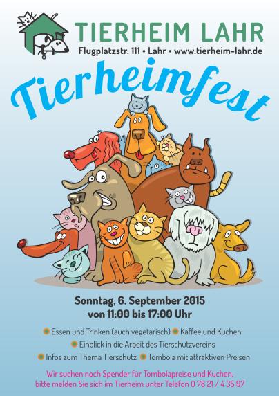 Flyer für das Tierheimfest 2015