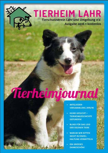 Titelseite Tierheimjournal 2016