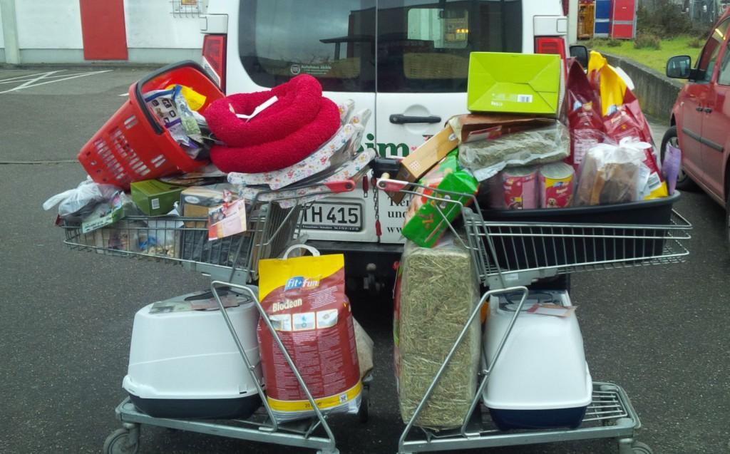 Spenden der Kunden des Fressnapf in Lahr