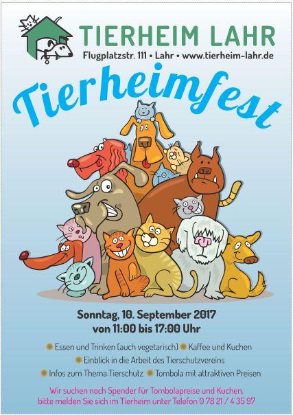 Tierheimfest am Sonntag, den 10.09.2017